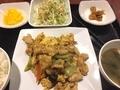 卵とキクラゲの炒め物@島之内 艶家