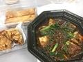 麻婆豆腐、春巻、唐揚げ@空心
