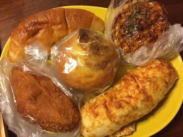 塩パン、バナナマフィン、カレーパン他@茨木駅前 リューヘイ