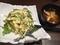 サラダと味噌汁@長堀橋 エムズダイナー