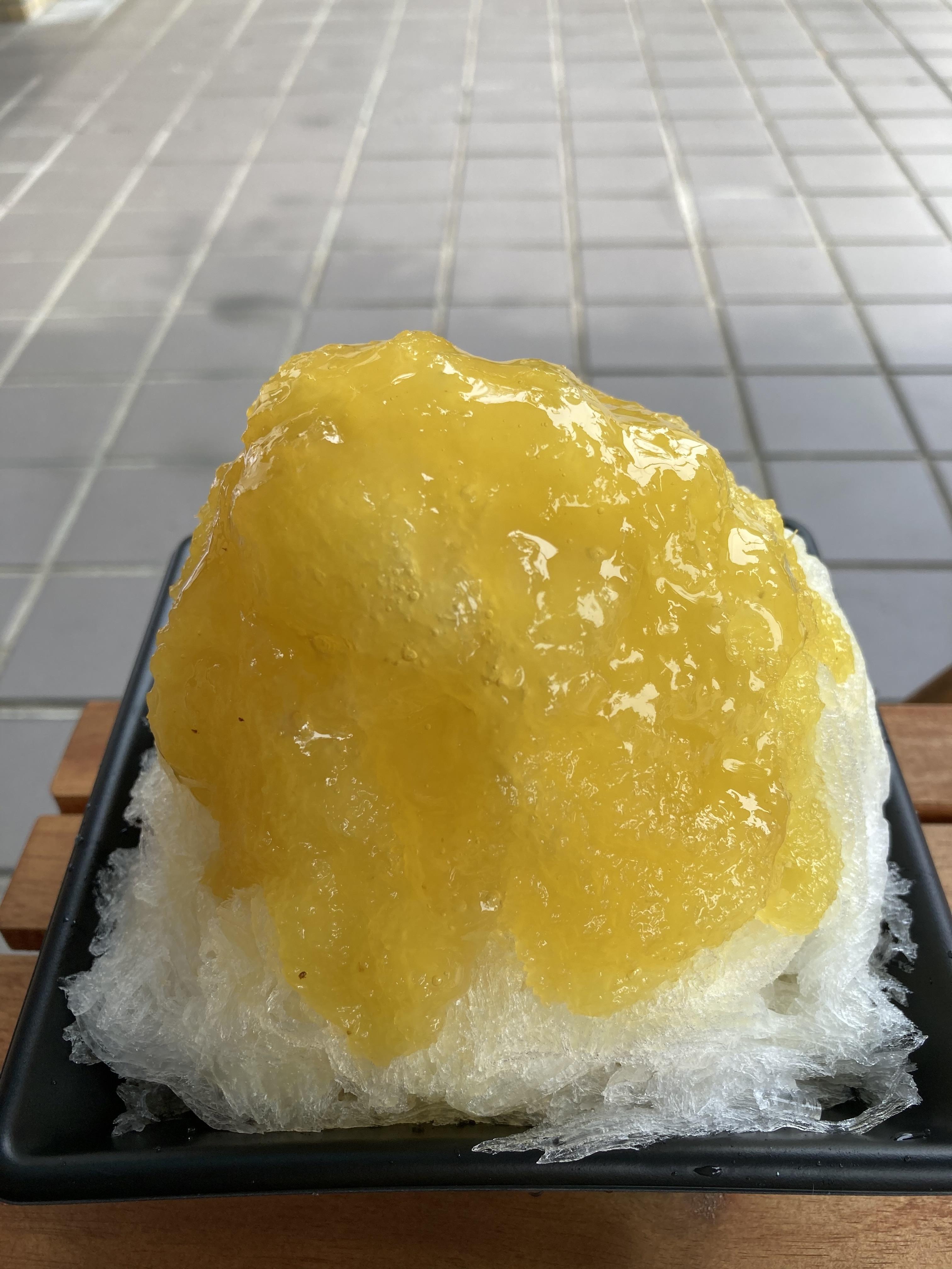 パイナップルかき氷@岡崎 菓子・茶房チェカ