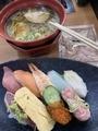 ランチ(にぎりと、醤油ラーメン)@くら寿司