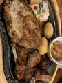 ハンバーグ&コロコロステーキ@びっくりドンキー