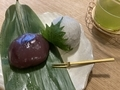 葛笹巻き、木漏れ餅@大津 茶菓 山川