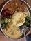 ペッパーチキン、野菜とムングダルのカレー@大津 キョンワールドカ