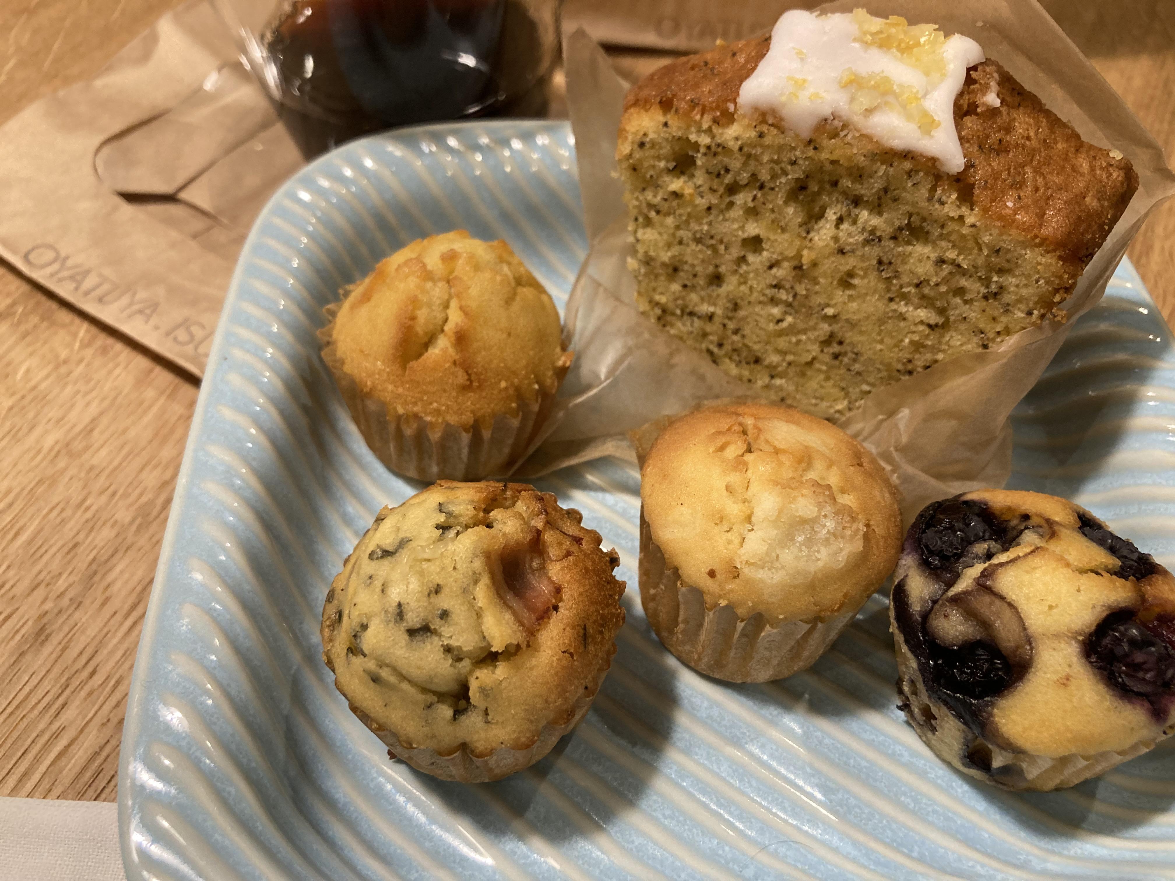 あんバターマフィン、レモン紅茶のバウンドケーキ他@LUCUA1100オヤツヤ