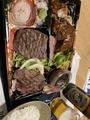 ハンバーグ、ランプ、イチボ@浜大津 肉バル モダンミール
