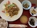 豚肉の生姜焼き定食@浜大津 アンドモア