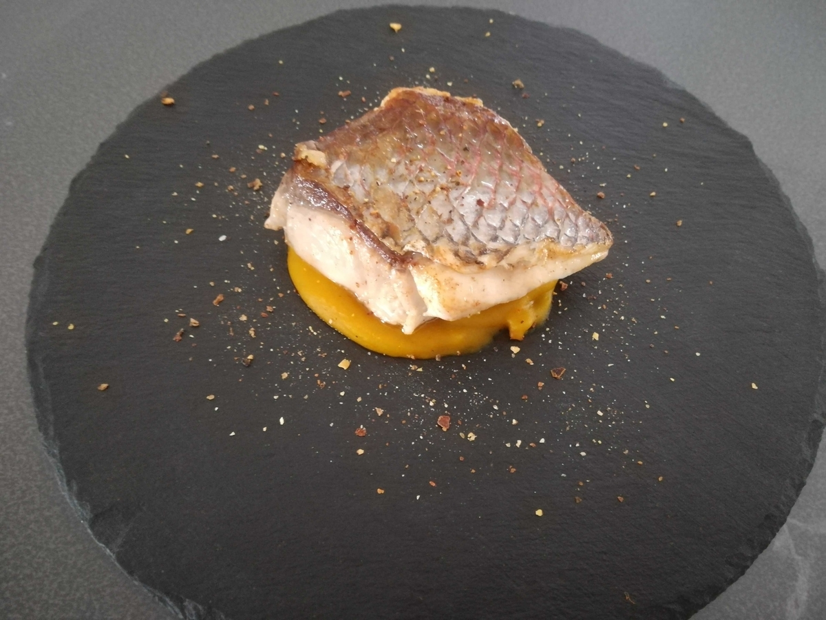 鯛のポワレ パンプキンソース