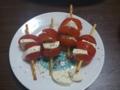 トマトとモッツァレラのスティック