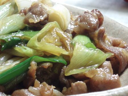 豚バラ肉と長葱のあっさりした時雨煮