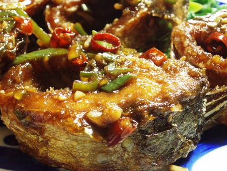 揚げ鯖の中華風マリネ