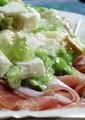 [前菜・オードブル]枝豆とチーズのゼラチン寄せと生ハム