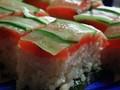 [寿司]スモークサーモンの押し寿司
