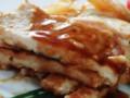 [鶏肉]ラクレットチーズと中農ソースで頂くささ身の辛子味噌重ね焼き