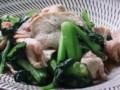 [野菜]小松菜と豚肉の中華炒め
