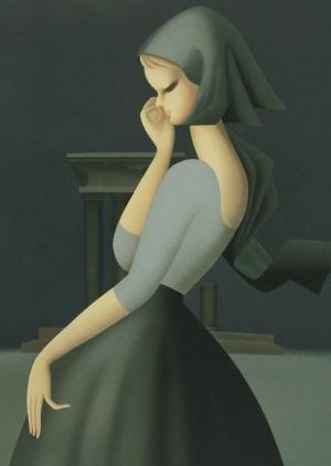 東郷青児「望郷」(1959) - SOMPO美術館