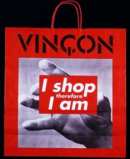 バーバラ・クルーガー『私は買い物するので私はある』(1987-93) - V&A Museum