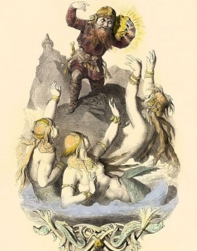 ルドヴィッヒ・バーガーさん筆、黄金を奪うアルベリヒ