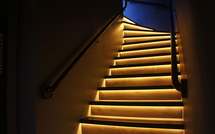 Led strip lights for indoor stairs