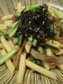 [パスタ]じゃこ天と小松菜のパスタ