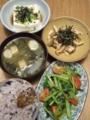 小松菜とプチトマトのにんにく炒め