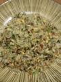 [炒飯]コンビーフとほうれん草のチャーハン