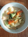 [パスタ]残り野菜のクリームパスタ