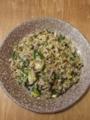 [炒飯]ひき肉と長ネギのチャーハン