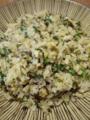 [炒飯]じゃこと大根菜と漬物のチャーハン
