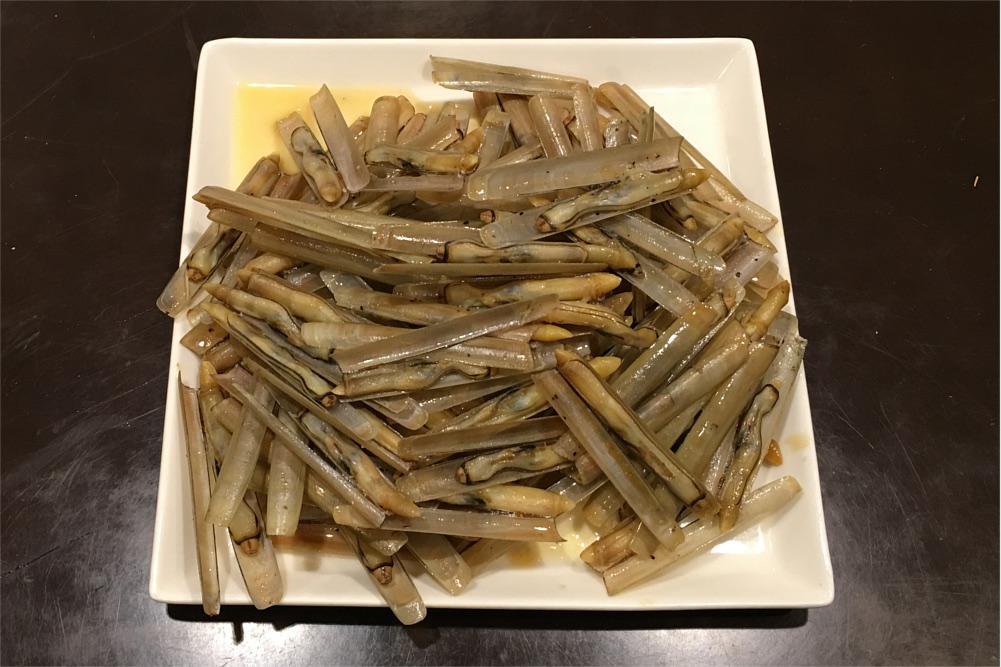 マテ貝のバター醤油炒め
