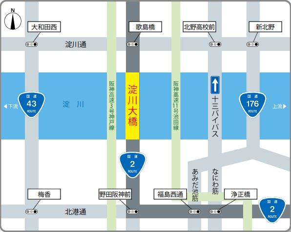 淀川大橋の図