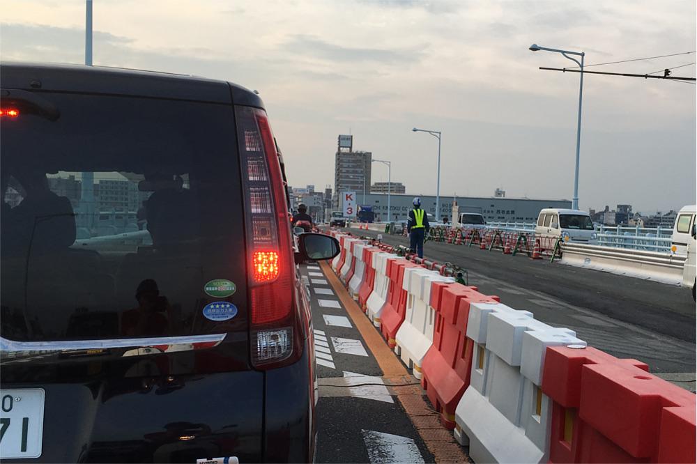 淀川大橋北向きの渋滞
