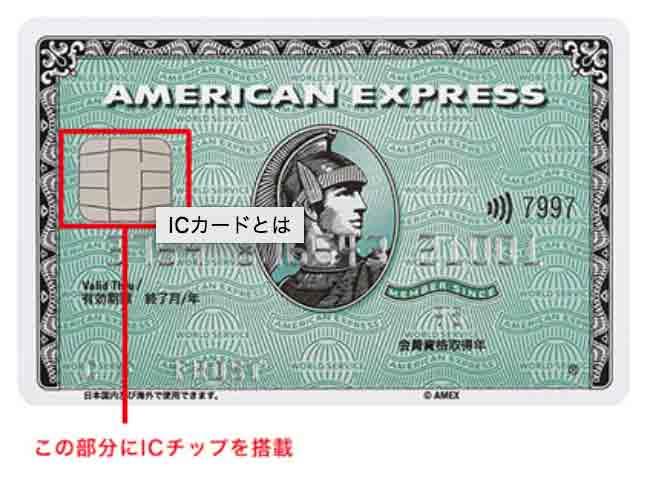 アメックス ICチップ付きカードデザイン