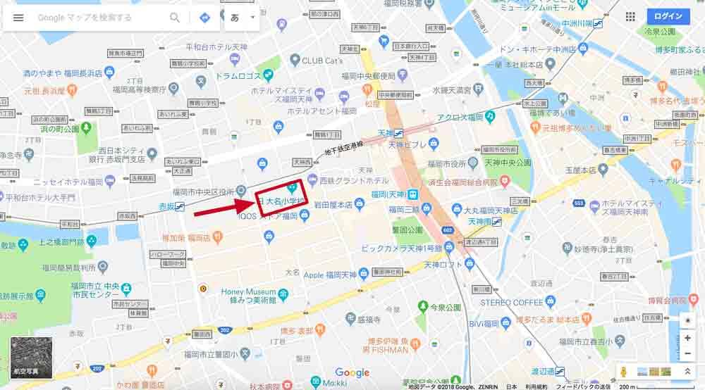 リッツカールトン福岡までのアクセス(地図)