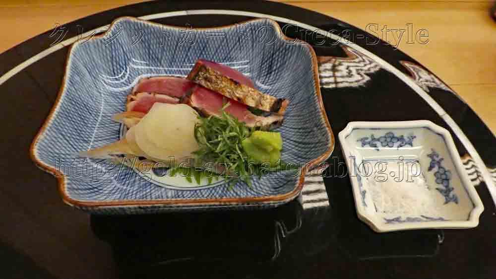 ウェスティン大阪 寿司 はなの 鰹のタタキ
