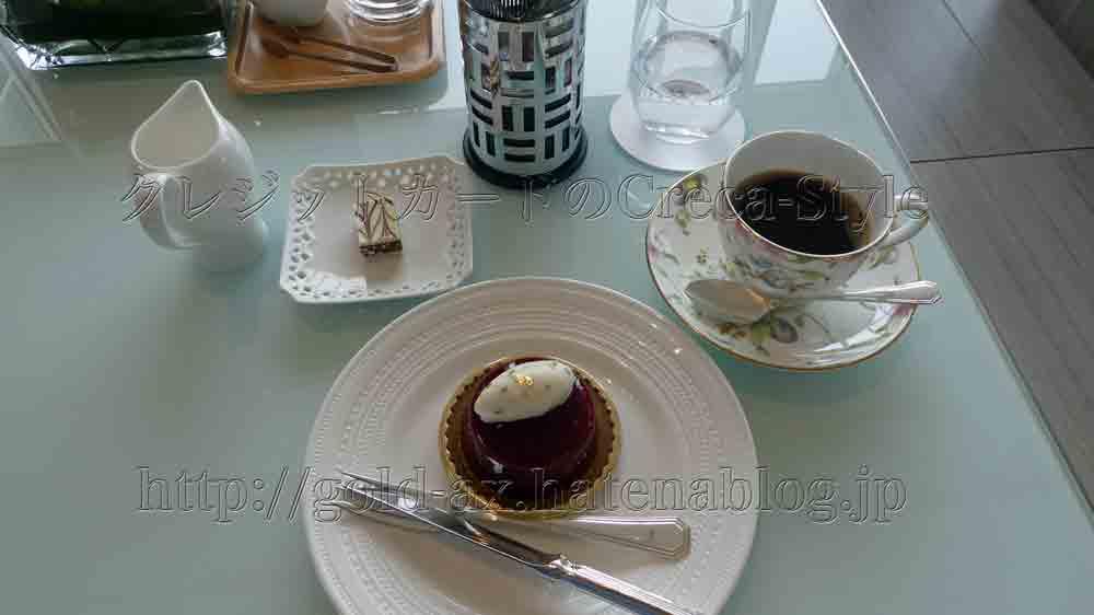 大阪マリオット都ホテルのラウンジでケーチとコーヒー