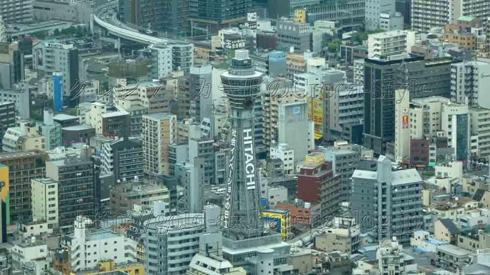 大阪マリオット都ホテルのスーペリアルームから通天閣が見える