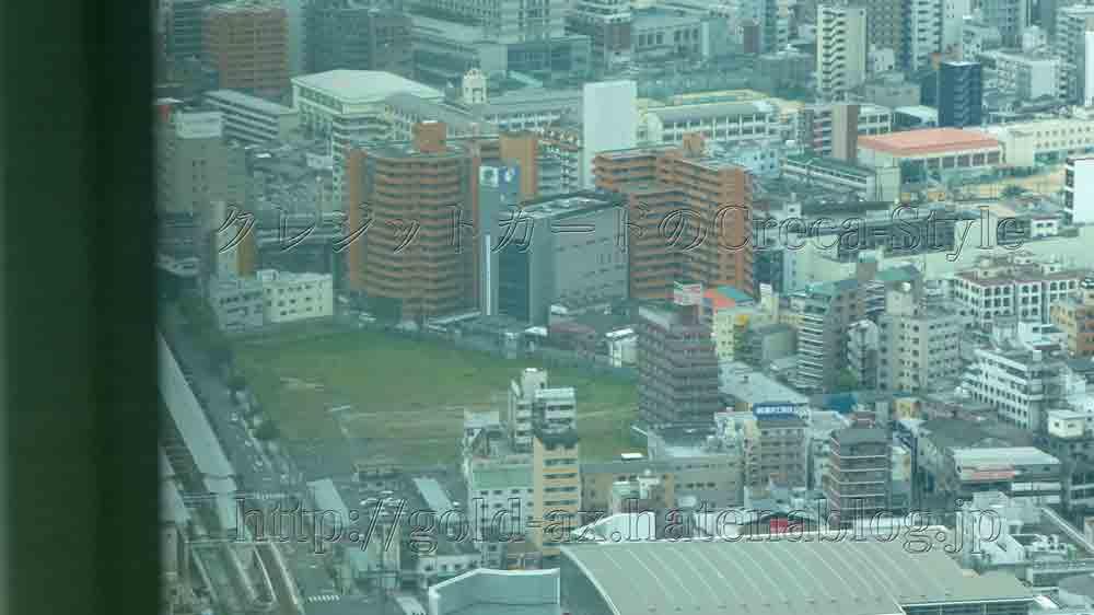 大阪マリオット都ホテルのスーペリアルームから新今宮の星野リゾート OMOが見える