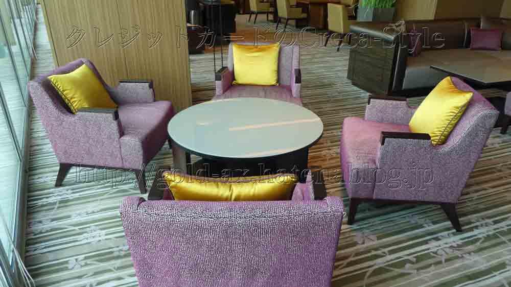 大阪マリオット都ホテル クラブラウンジの座席