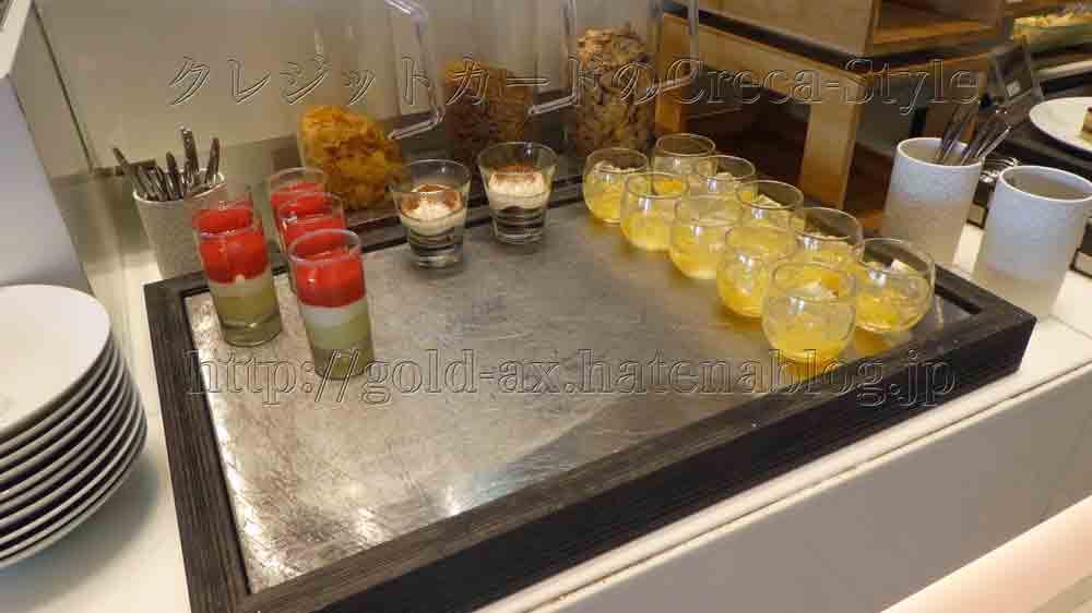 大阪マリオット都ホテルのクラブランジのアフタヌーンティでティラミス、ゼリーが食べられる