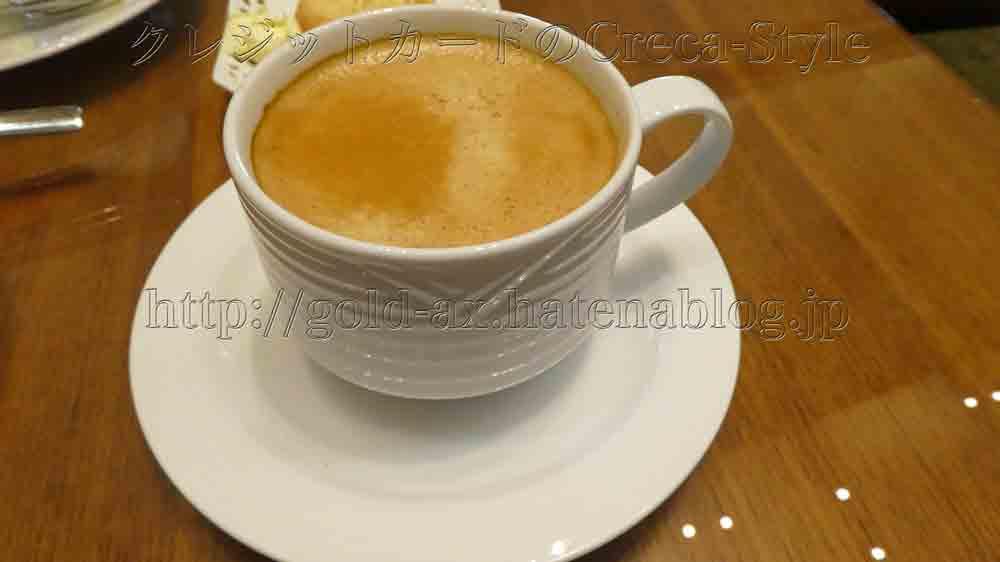大阪マリオット都ホテルのクラブラウンジでアフタヌーンティーでコーヒーが美味しい