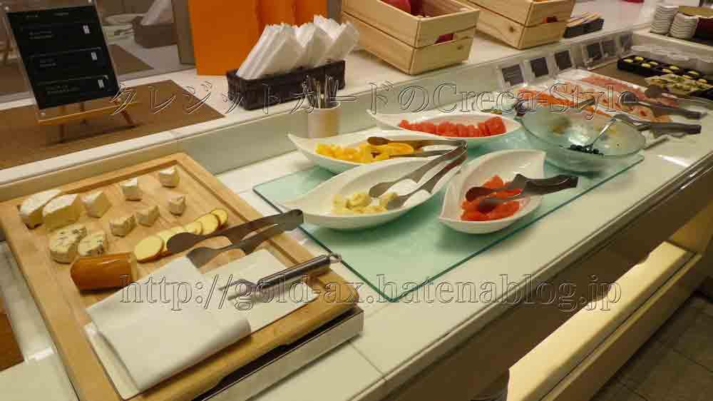 大阪マリオット都ホテルのクラブラウンジの朝食 チーズ