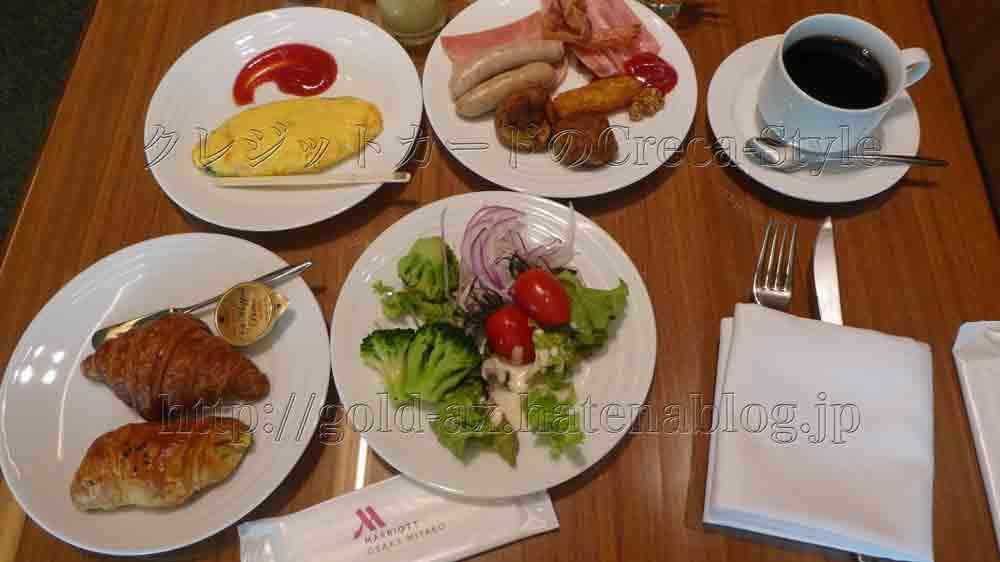 大阪マリオット都ホテルのクラブラウンジで朝食 朝からガッツリ