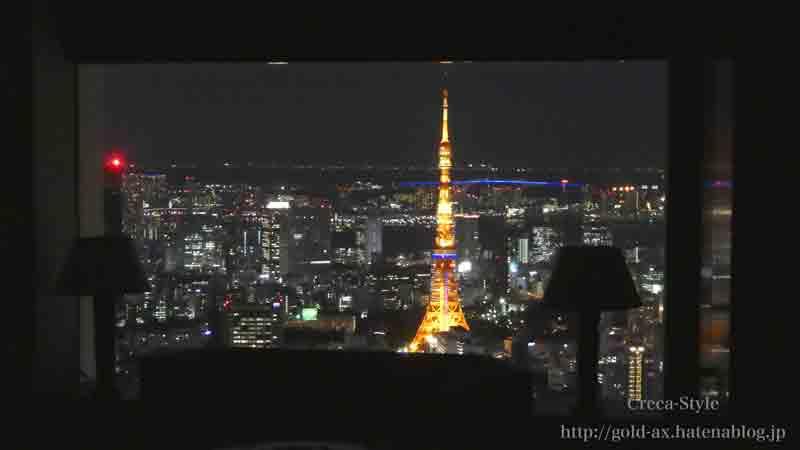 ザ・リッツ・カールトン東京のクラブタワーデラックスルームからの夜景