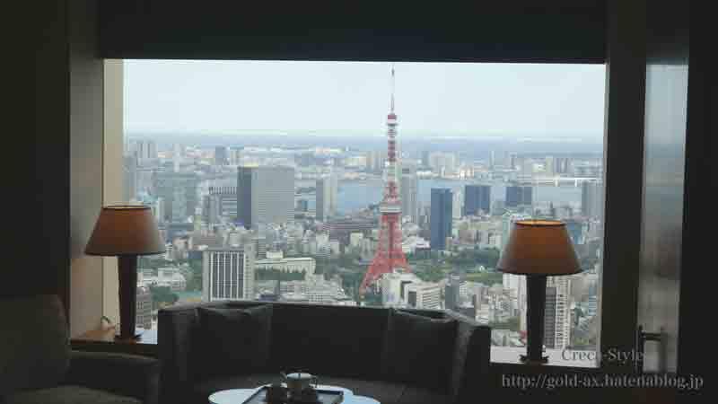 ザ・リッツ・カールトン東京のクラブタワーデラックスルーム53階からの眺め