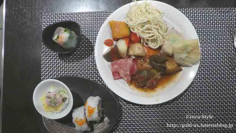 ホテル日航関西空港 ザ・ブラッスリーでブッフェのお料理