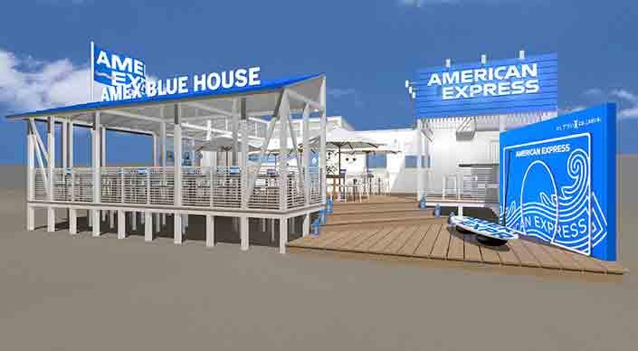 アメックス海の家「AMEX BLUE HOUSE」が逗子海岸にオープン