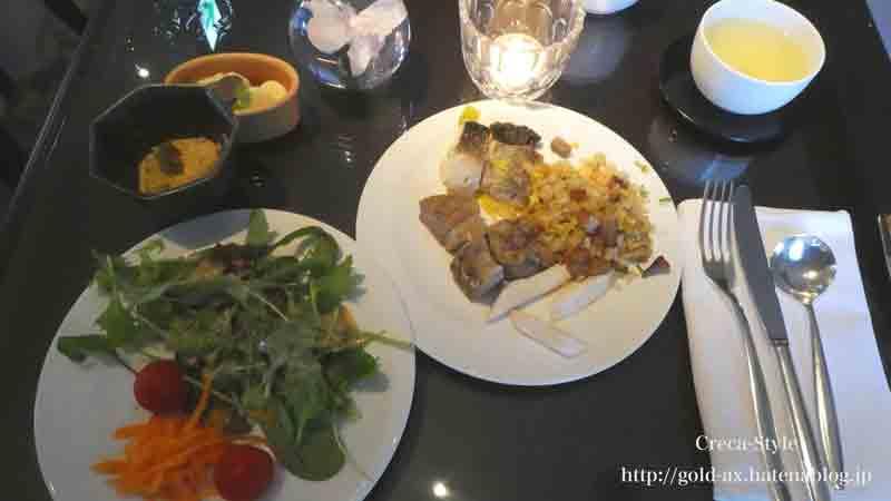 ザ・リッツ・カールトン大阪クラブラウンジ で夕食前のオードブル
