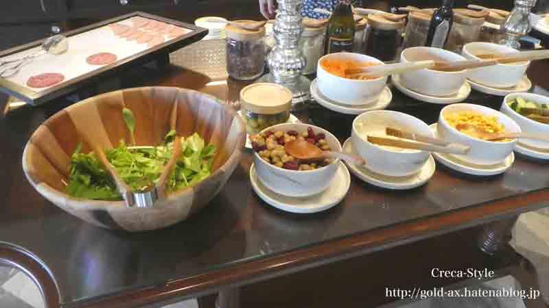 ザ・リッツ・カールトン大阪の朝食のフードプレゼンテーションはサラダが充実